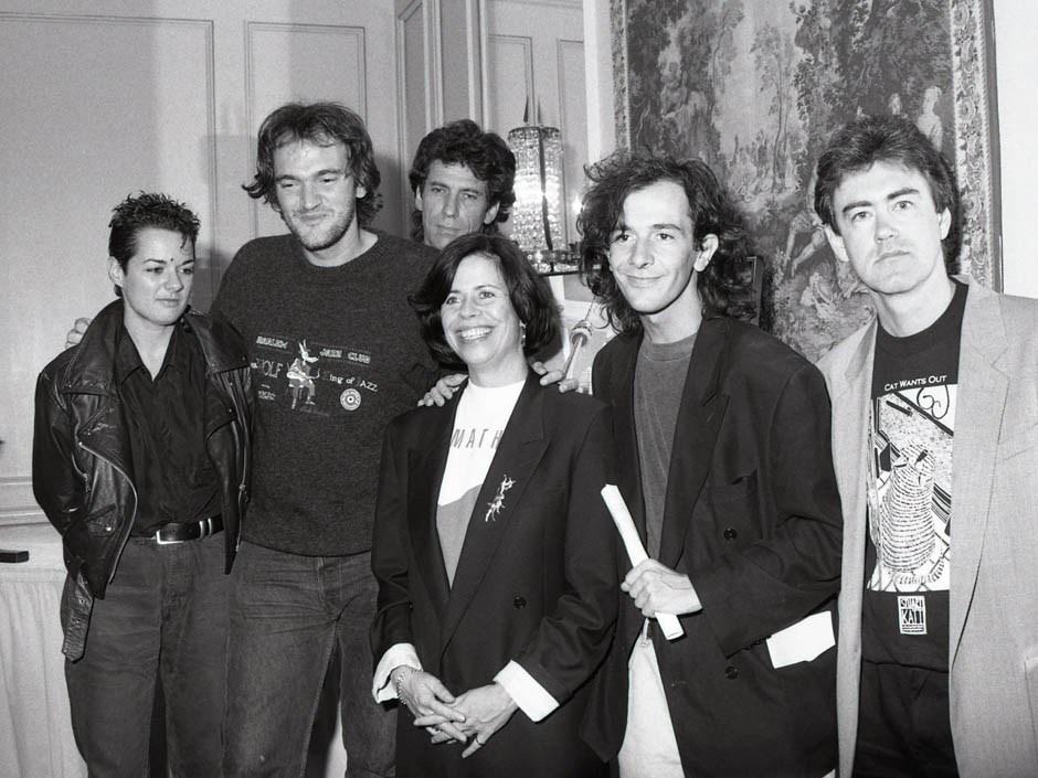 Memories: Quentin Tarantino, Helga Stephenson, Piers Handling, Festival 1992 Credit: Courtesy of Nir Baraket